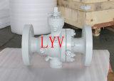 Robinet à tournant sphérique d'acier de moulage de tourillon de la Chine