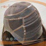 Cabelo humano toda a linha natural amarrada mão peruca do cabelo do laço natural cheio da parte dianteira da cor do laço