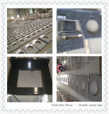 Parte superior chinesa da vaidade do banheiro da bancada de quartzo do mármore do granito