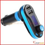 Radio FM Auricular Bluetooth, transmisor de FM Bluetooth coche reproductor de MP3, radio FM de bolsillo con Bluetooth