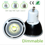 Qiality alta regulable GU10 3W COB LED Luz