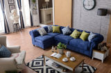 Sofá casero de Chesterfield de los muebles con cuero genuino