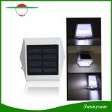 La pared solar de la luz solar de la cerca de 4 LED enciende la luz al aire libre de las escaleras de las luces