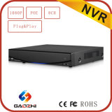 CCTV superventas H. 264 Network DVR Software de 8CH 1080P Poe