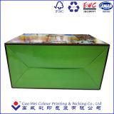 Caixa de empacotamento de papel do alimento/bolo com a cópia da laminação em China