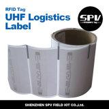 Extranjero material H3 de la impresión del código de barras de los PP de la etiqueta de la logística de RFID