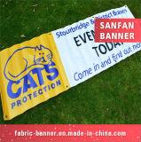 アイレットが付いている旗を広告するカスタム屋外の印刷PVCビニール