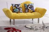 折るファブリック居間のソファーベッド