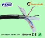 UV упорным напольным заполненный гелем Ce кабеля Cat5e
