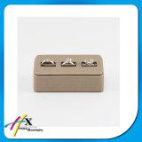 Soporte de visualización de madera del anillo de la joyería de la visualización de Brown de la vendimia