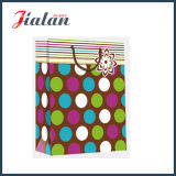 Papier d'art stratifié brillant Dots & Tripes Shopping Gift Paper Bag