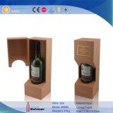 Il fornitore della Cina Alibaba ha personalizzato i contenitori di regalo del cuoio del Faux di uso del vino di marchio