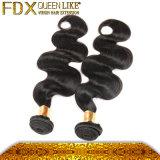 ブラジルのRemyの毛ボディ波カラー#1b実質の毛の織り方