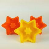 Molde de la torta del silicón de la dimensión de una variable de la estrella de 5 pulgadas