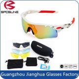 Material Multicolor impresso costume Biking relativo à promoção ao ar livre do frame Tr90 de Len que dá um ciclo conduzindo óculos de sol do voleibol