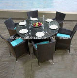 Установленная таблица напольного ротанга обедая (GN-8623D)