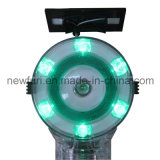 도로 안전을%s 태양 녹색 LED 발적 경고등
