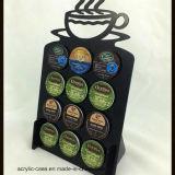 Support acrylique de boîte de présentation de cosse de capsule de café