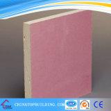 Placa de gipsita à prova de fogo/placa de gipsita da cor/Plasterboard cor-de-rosa