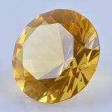 Желтое Crystal Glass Diamond для бесплатной раздачи Wedding Favor Gift Thank
