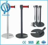 Black Controller Stanchions Steel Steel Rope Line Queue Post