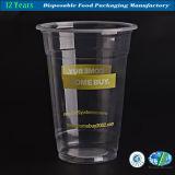 Venta al por mayor plástica cristalina de la taza del jugo