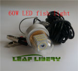 60W 12V Green Light LED Underwater Fishing Fish Lure Bright Kayak Boat