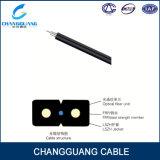 Arquear-Tipo cable de Gjxh FTTH de la fibra de la gota