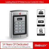 Telclado numérico independiente Wiegand de la puerta RFID del telclado numérico del regulador del acceso del diseño del Anti-Vándalo del metal dos