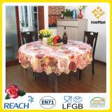 PVC / PEVA Pano de mesa impresso com não-tecido LFGB Oko-Tex 100 (TJ0425)