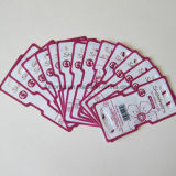 Carte en plastique s'arrêtante estampée personnalisée empaquetant pour des produits
