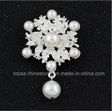 Broche de la perla de la hebilla de la bufanda de la broche de la flor de la perla para la boda (perla de la flor TB-027)