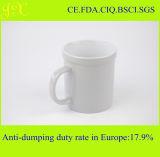 Taza de café de cerámica blanca de la alta calidad en coloreado esmaltado