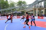 De poreuze Met elkaar verbindende Bevloering van het Hof van het Basketbal, de Internationale Norm van de Tegels van het Basketbal van de Drainage