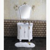Шкаф ванной комнаты античного пола типа стоящий с зеркалом