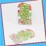 クリスマスのキャンデーが付いている手持ち型のボードピンボールゲームのおもちゃ