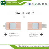 OTG USB 3.0 iPhone를 위한 저속한 드라이브 Gloden 섬광 드라이브