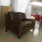 セットされる現代居間の革ソファー(Hw-3950s)