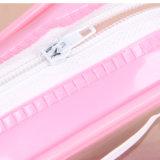 Застежки -молнии PVC ясности красотки OEM мешок выдвиженческой косметический с изготовленный на заказ логосом