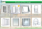 유럽식 Tilt 및 Turn UPVC Window