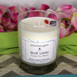 Lavendel roch Sojabohnenöl-Wachs-Glasglas-Kerze