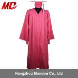 卸し売り高校卒業の帽子のガウンの大人の無光沢のピンク