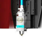 Producción de la hoja de metal que procesa la cortadora del laser de la fibra