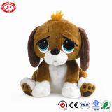 Juguete relleno felpa suave pobre grande del perro de perrito de los ojos que se sienta