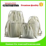 Impression de empaquetage réutilisable en gros de logo de douane de poche de mémoire de cordon de grain de café de sac de cordon de coton