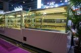 Refrigerador de vidro do indicador do bolo da base quente do mármore do equipamento de Refrigeration da venda