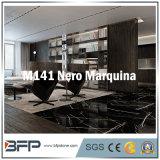 벽 도와, 포위하는 목욕탕, 실내 마루 도와를 위한 Nero Marquina 10mm 두꺼운 대리석 도와