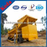 Trommel de separação aluvial da mineração do ouro 100t popular