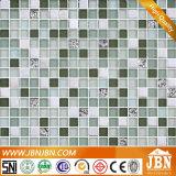 壁のボーダー共通のサイズのガラスモザイクおよび石造りの混合された(M815019)