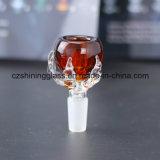 Tazones de fuente de la hierba de los accesorios del gran vidrio del diseño que fuman para los tubos de agua